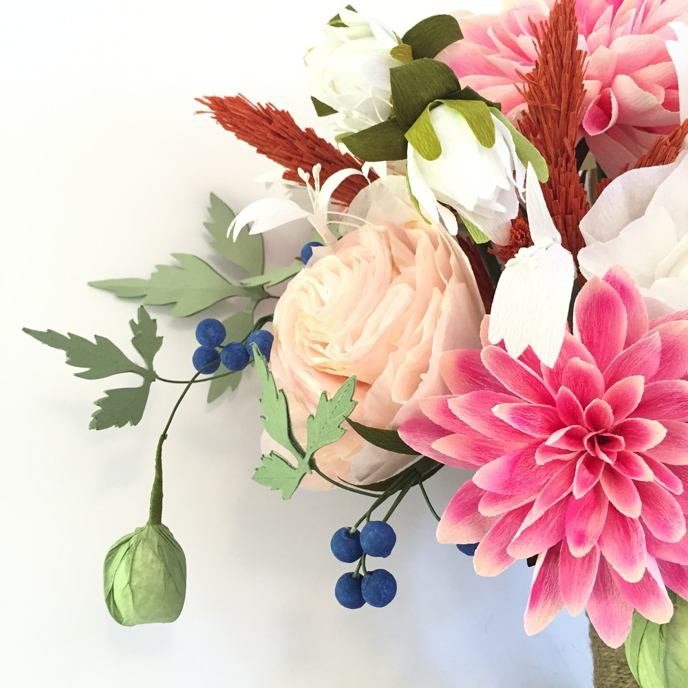Paper Flower Replica Bouquet