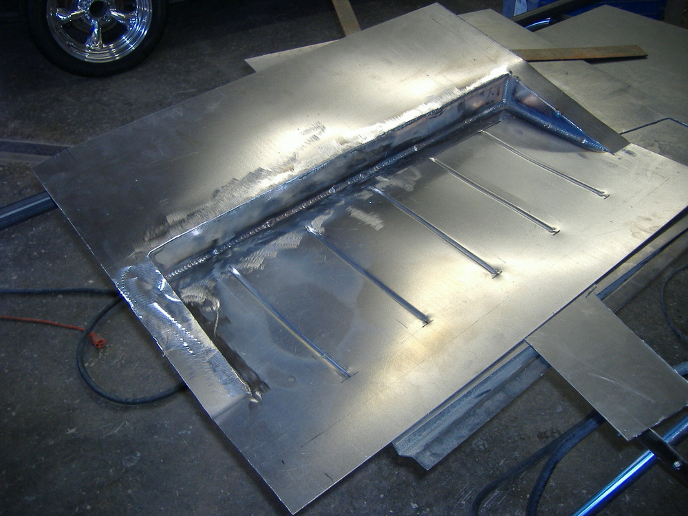 Custom fabricated floor pan