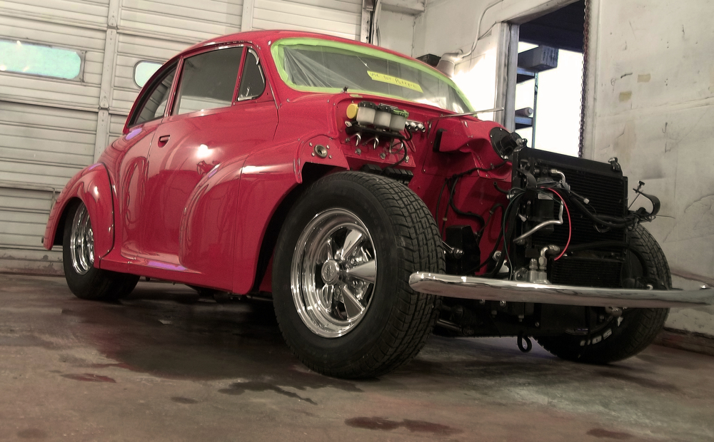Morris Minor Custom RHd with mgb engine