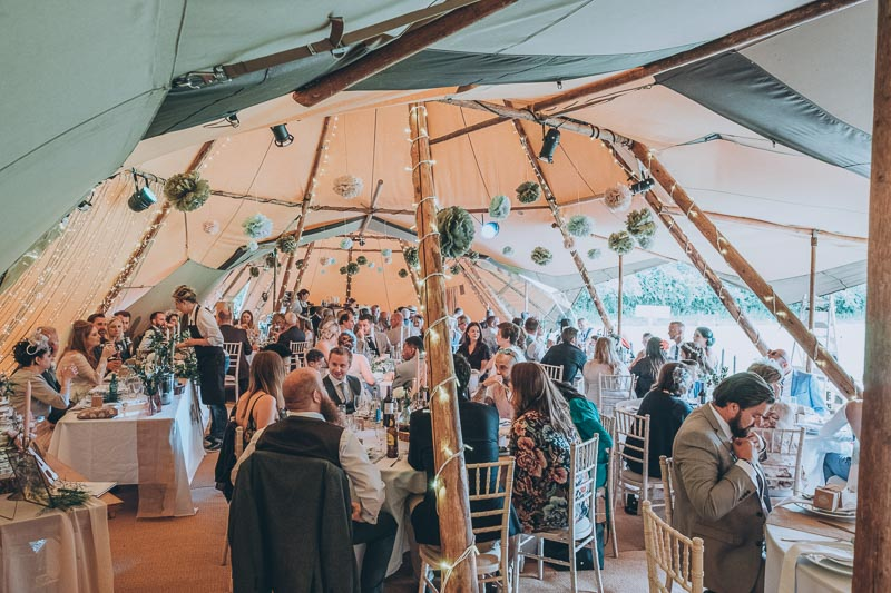 Tipi Wedding - Chris Snowden Photo