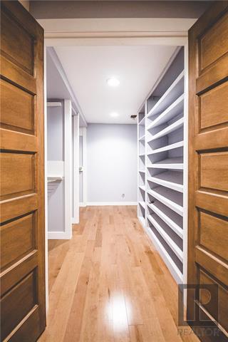 Downstairs walk in closet