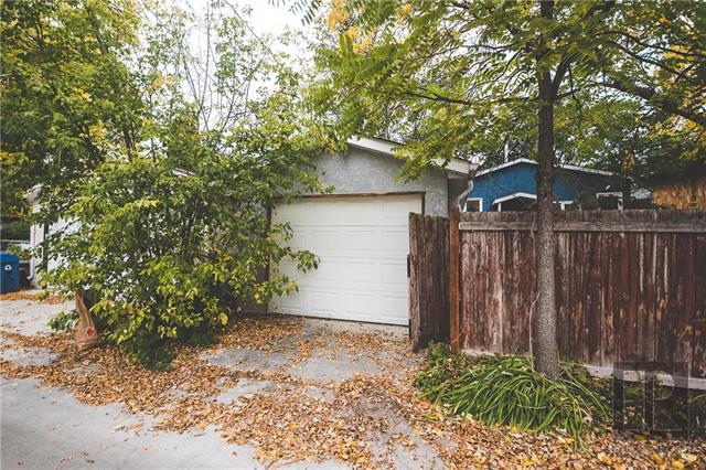 Garage and yard