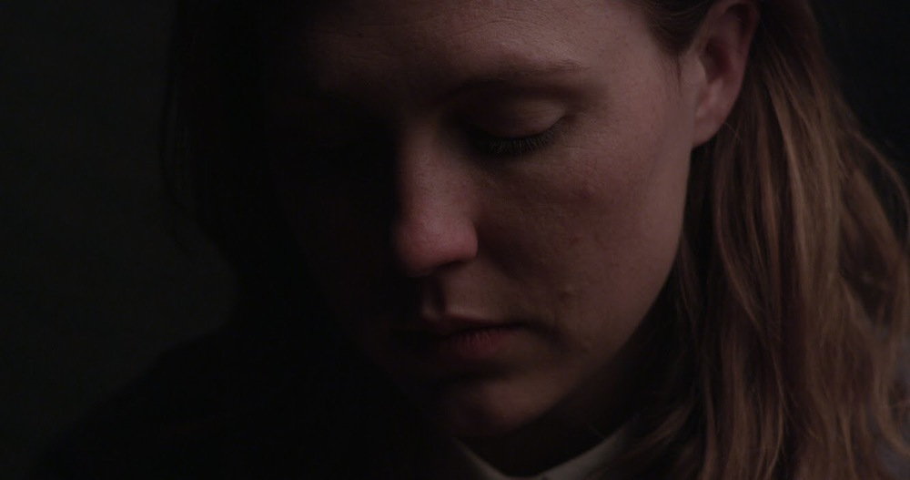 Matilda Ridgway in test footage for The Divide). Cinematography by Gregoire Liere