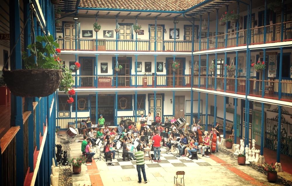 Casa de la Cultura - youth orchestra rehearsing