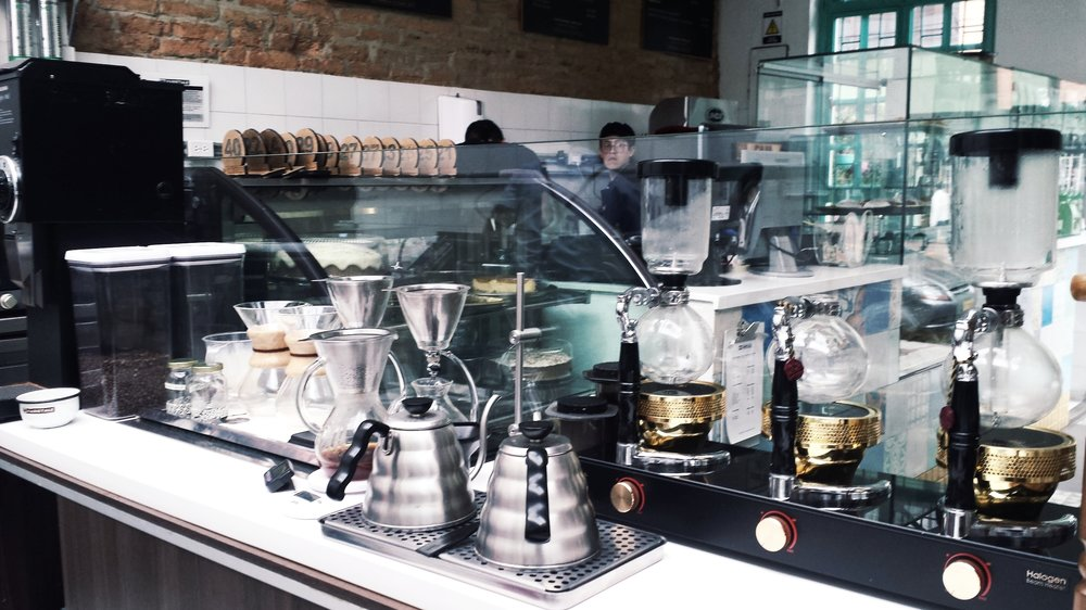 The baristas' area at Varietale