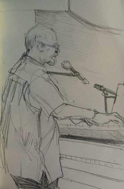 Jazz Quartet Keyboard Man