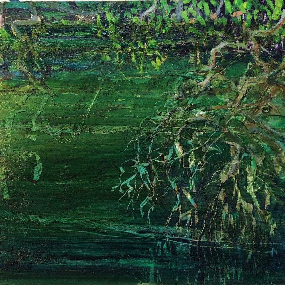 Oak Creek W.E.Shumway acrylic on panel 12 X 12 inches 225.00.jpg