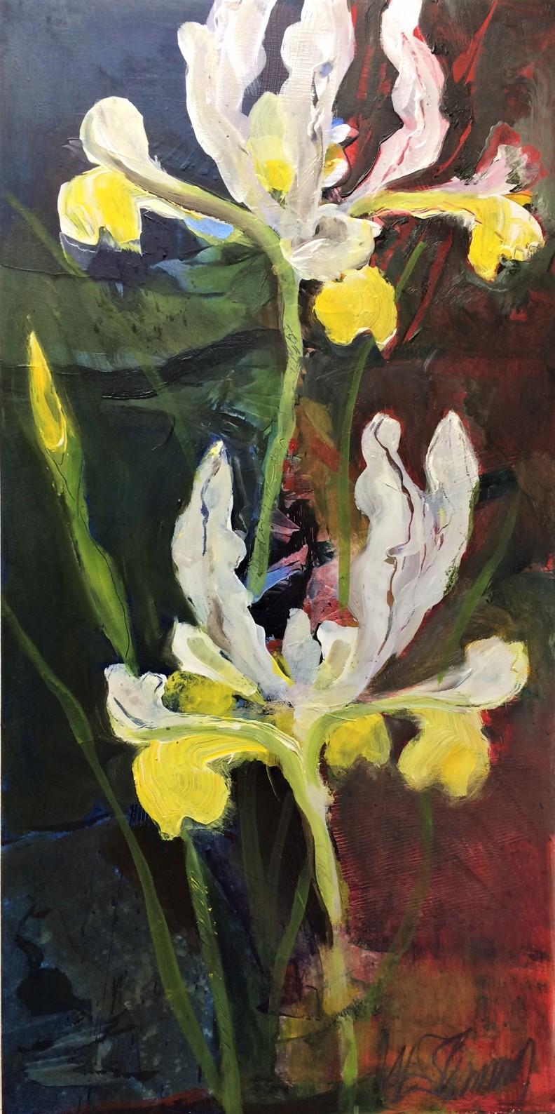 Iris W.E.Shumway acrylic 12(w) X 24 inches 225.00.JPG
