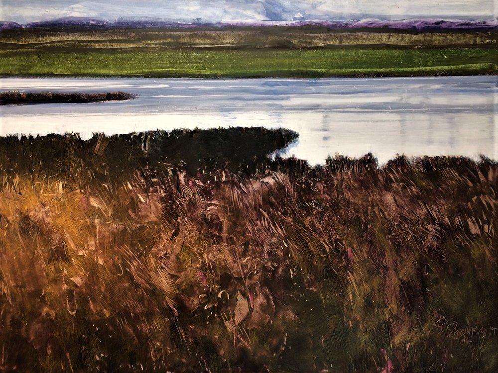 Benson Pond, Malheur W.E.Shumway acrylic 36(h) X 48 inches 2,500.00.JPG