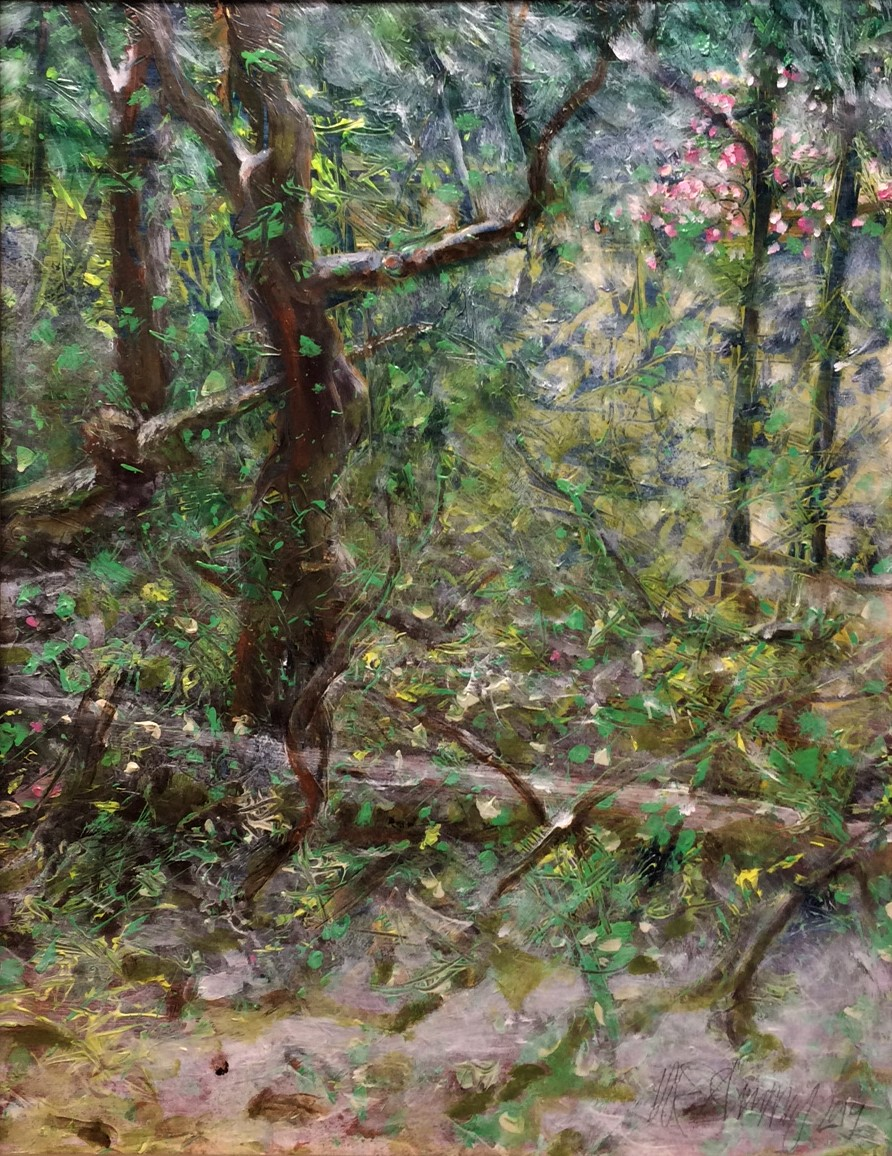 Peterson's Plum by W.E.Shumway acrylic 20 X24 inches (h) 550..JPG