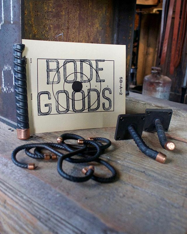 BODE GOODS | we are a function-based design company specializing in industrial- grade hand-bent rebar products for home and retail use.