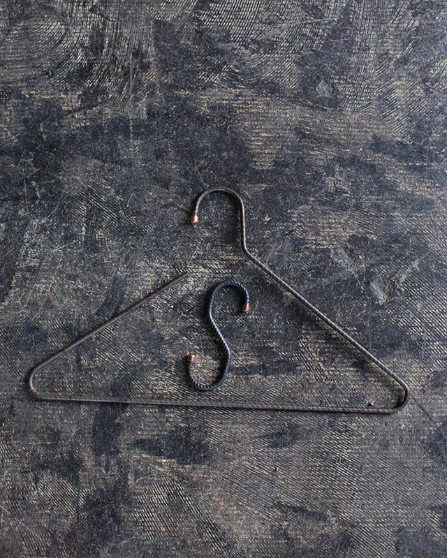 Our newest additions to Bode Goods,  1/2 Ton Hook and T-Shirt Hanger. Both built with lighter weight rebar.