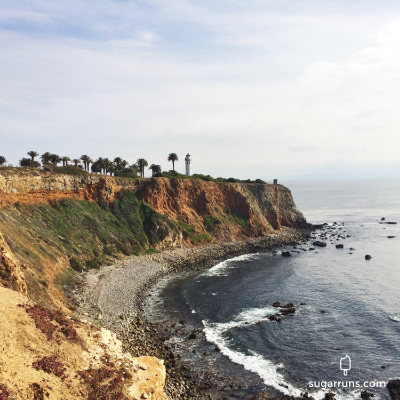 A view on our hike in palos verdes