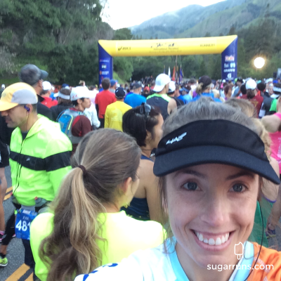 Starting line selfie