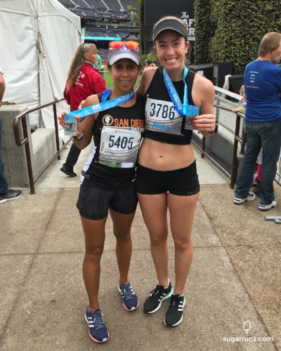 Debra and I at the finish