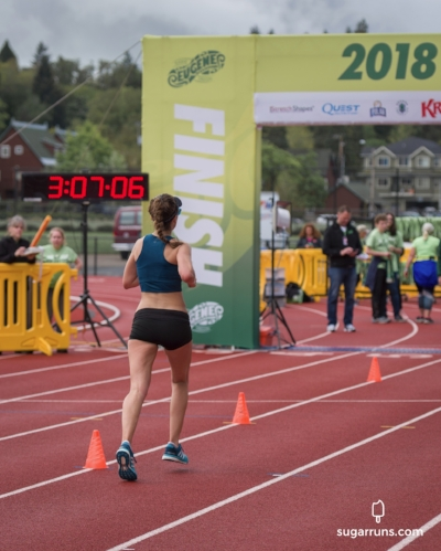 The most epic finish line inside Hayward Field.