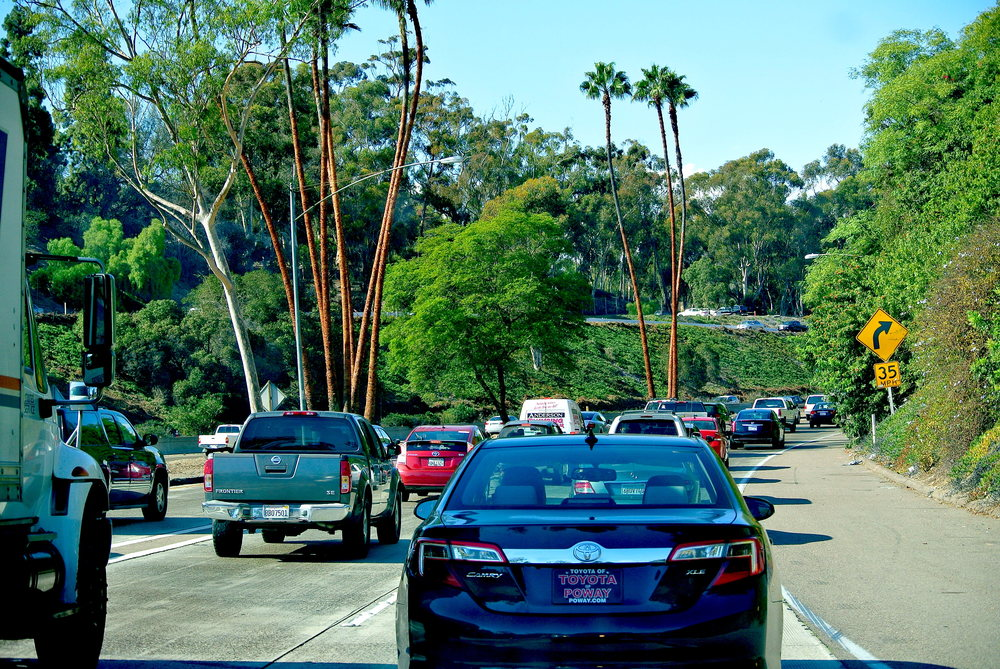 Behold, the beautiful San Diego parking lot, also known as the 163.