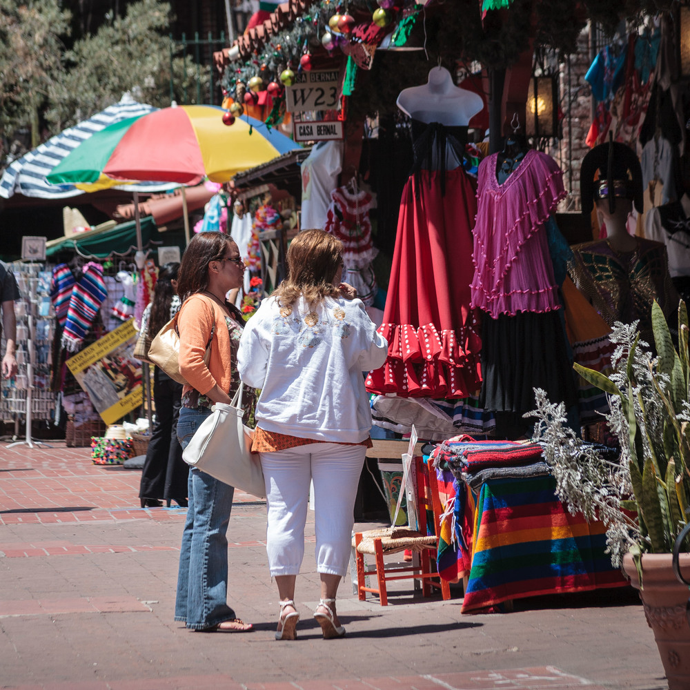 Olvera Street Shoppers