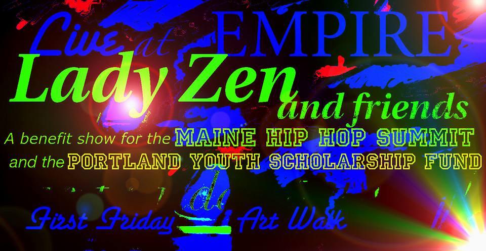 Maine Hip Hop Summit Fundraiser w/Lady Zen