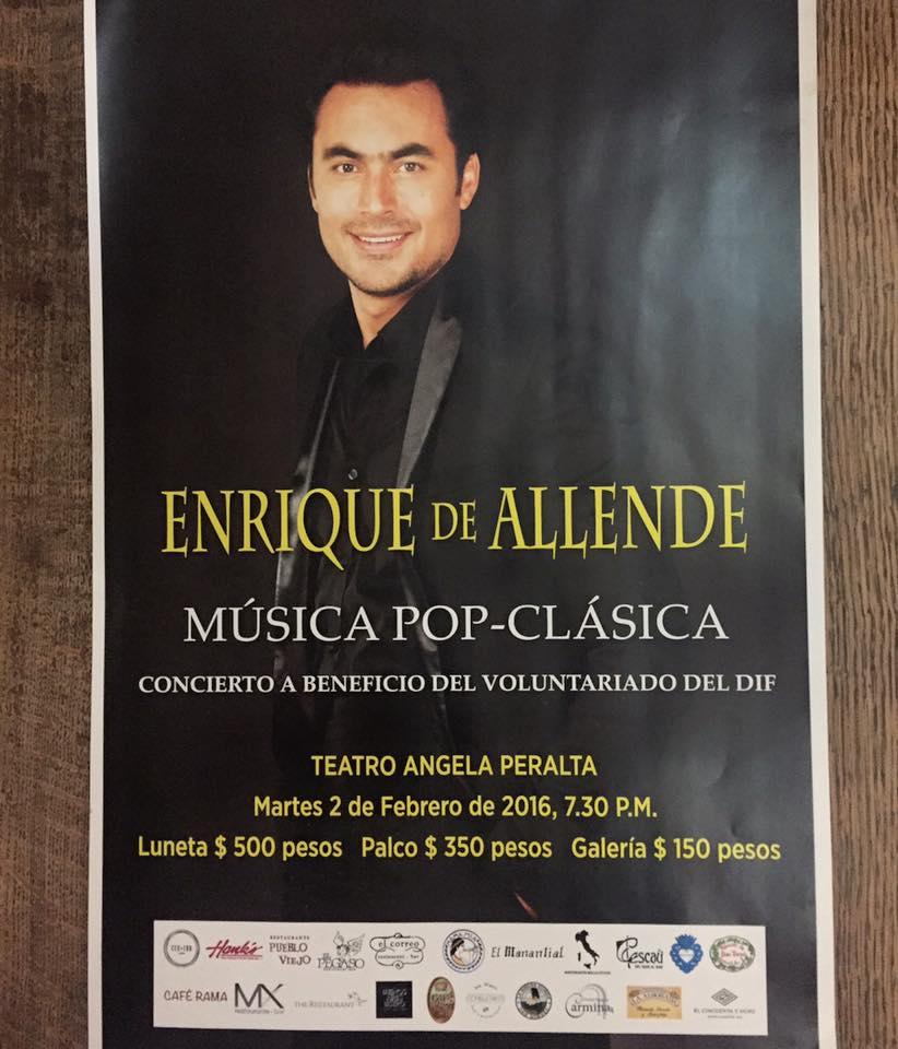 Benefit Concert with Enrique de Allende
