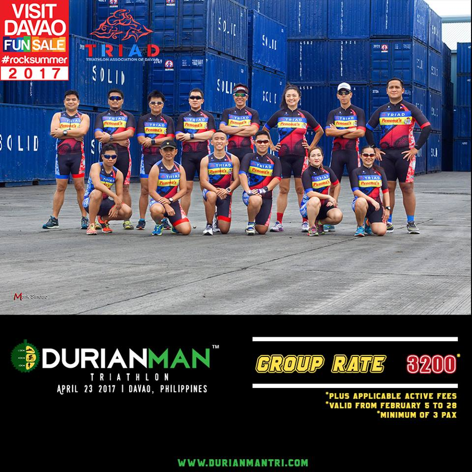 Starting February 5 up to 28, we're offering a GROUP RATE of Php 3200/person! Register thru  www.durianmantri.com   *Plus applicable Active fees *Individual Category registration only *Minimum 3 pax