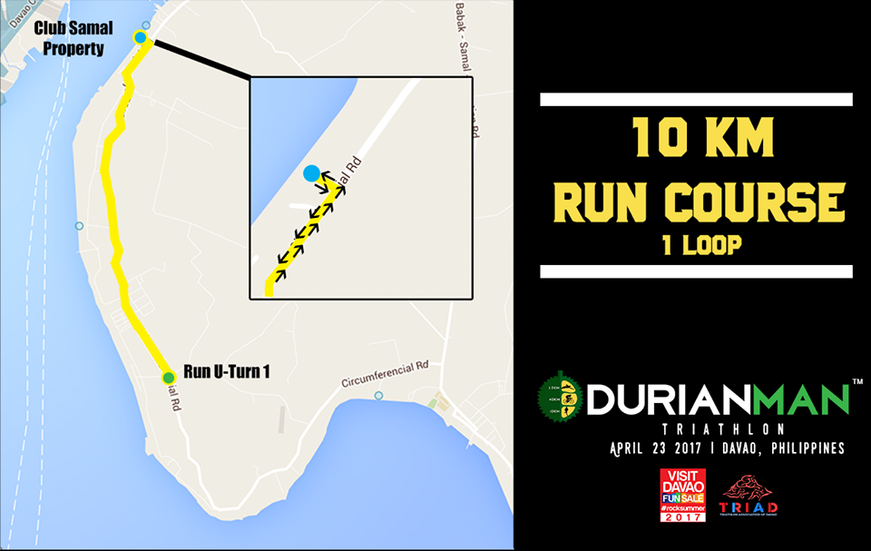 Finally, the athletes will run 10KM in an out-and-back course from Club Samal. With the summer sun up high, athletes will have to be prepared for the heat as portions of the course are unshaded.