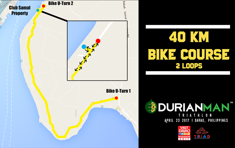 The 40KM bike course takes the athletes along the Circumferential Road of the Island Garden City of Samal. There will be short manageable climbs throughout the course, with fast, downhill portions. Athletes will be able to enjoy the breeze as well as the breathtaking view of the sea.