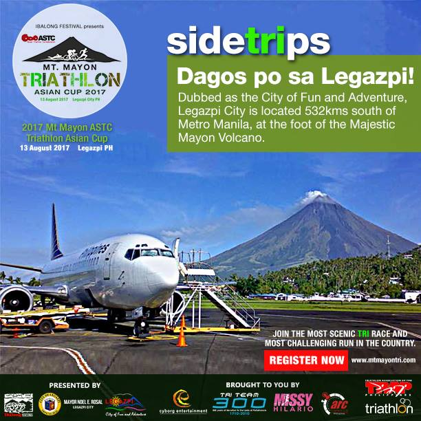 SIDETRIPS - Dagos po (welcome) sa Legazpi City! The City of Fun and Adventure.The fastest and most convenient way to get to Legazpi is by air travel. Major airlines Philippine Airlines (PAL) and Cebu Pacific Air (CEB) have flights to and from Legazpi Domestic Airport, the region's busiest airport and the busiest non-international airport in Luzon. These airlines also offer regular promo fares that make air travel to Legazpi more affordable. Flights between Manila and Legazpi usually take around 55 minutes to an hour. Airlines also connect Legazpi to Cebu, which is only an hour away via plane. ~wowlegazpi.com#sideTRIps