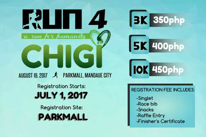 "Greater things are yet to come! Please invite your friends and "" RUN for CHIGI "". If you register for 10 people, you will get 1 registration free. For more details, please see our poster."