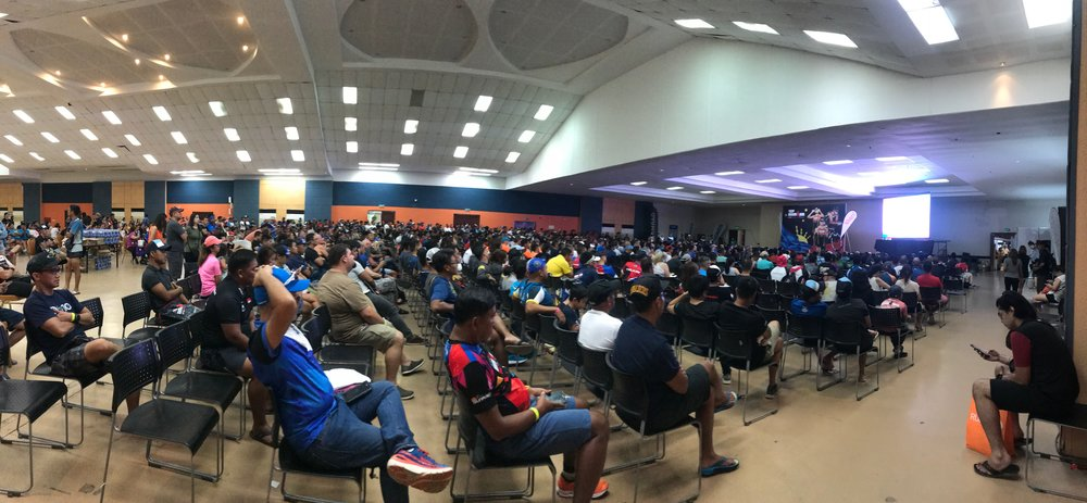 Athlete Briefing at the Plenary Hall. Excitement was in the air as information, inspiration and weather forecasts were announced.