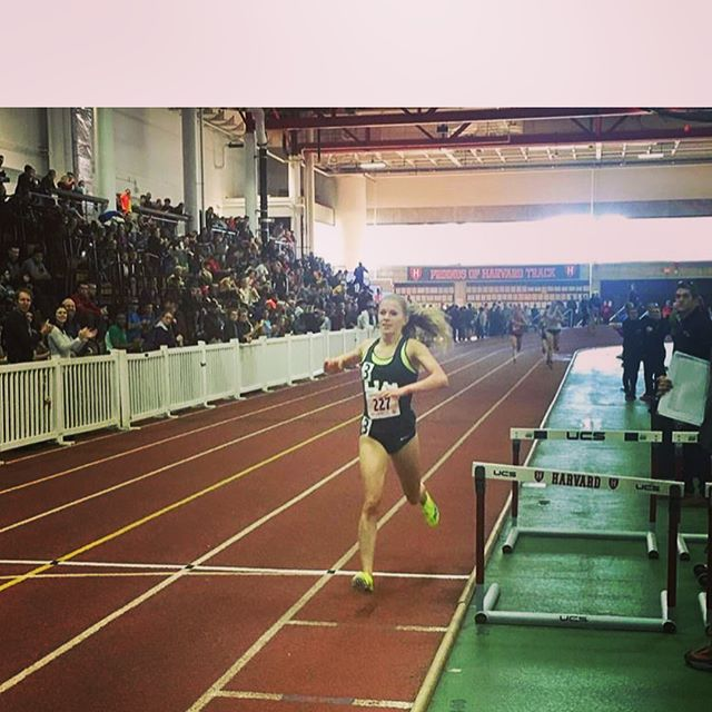 Over the weekend at the GBTC indoor track invitational, Victoria Patterson broke the school record for the 3K in 10:05. Erin Hudson also set the school record for track 5K. Patterson went on to win the 3K invitational and Hudson got the bronze in a very competitive 5K heat.