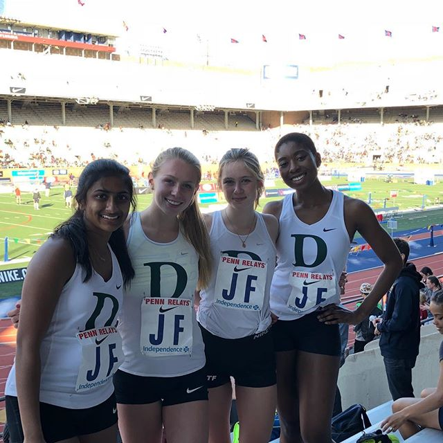 Congrats to the Girls' Track 4x400 team on a 5th place finish at the highly competitive Penn Relays. This was Lily Louis's '18 third appearance in the relays, an unprecedented accomplishment.