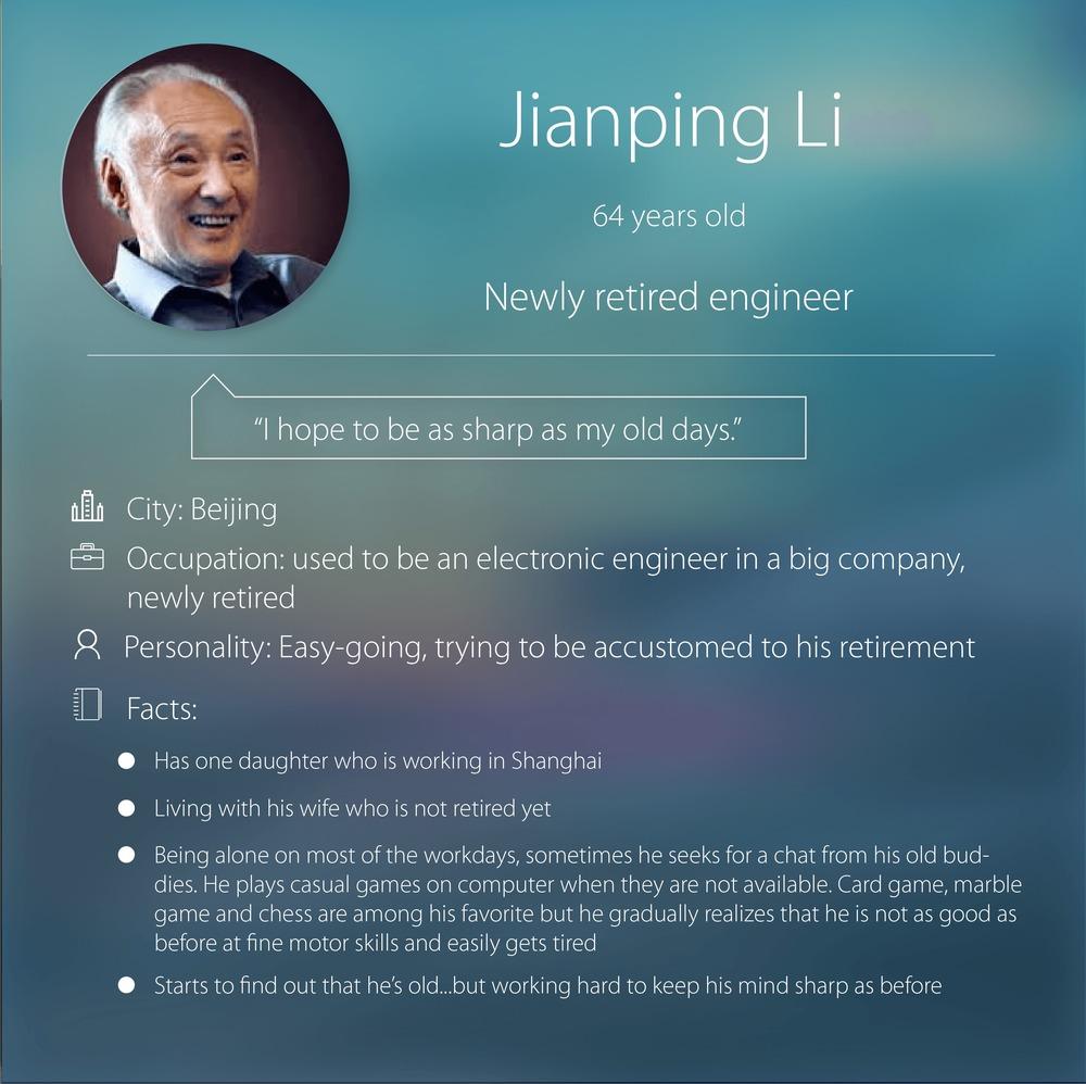 Primary Persona: Jianping Li