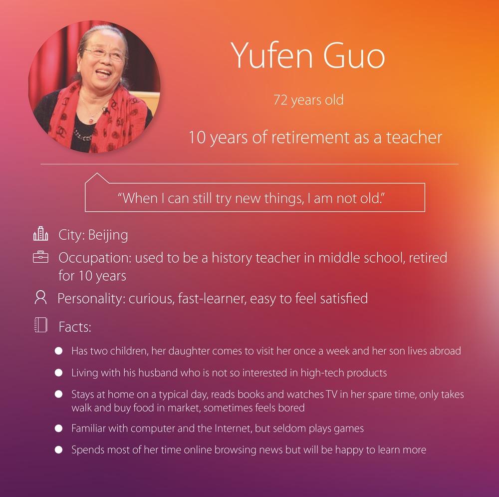 Secondary Persona: Yufen Guo