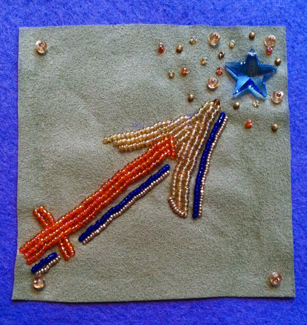 Sagittarius Beaded Embroidery