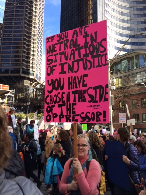 Gabriella Vogt, Seattle Women's March, January 21, 2017