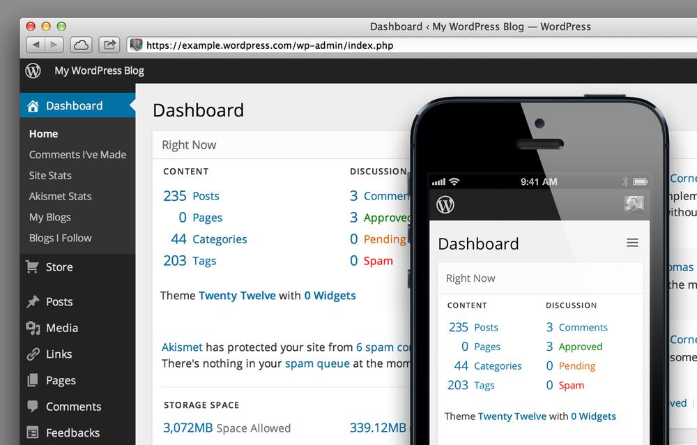 wordpress real estate websites dashboard old - Lanza tu Blog en minutos con Wordpress
