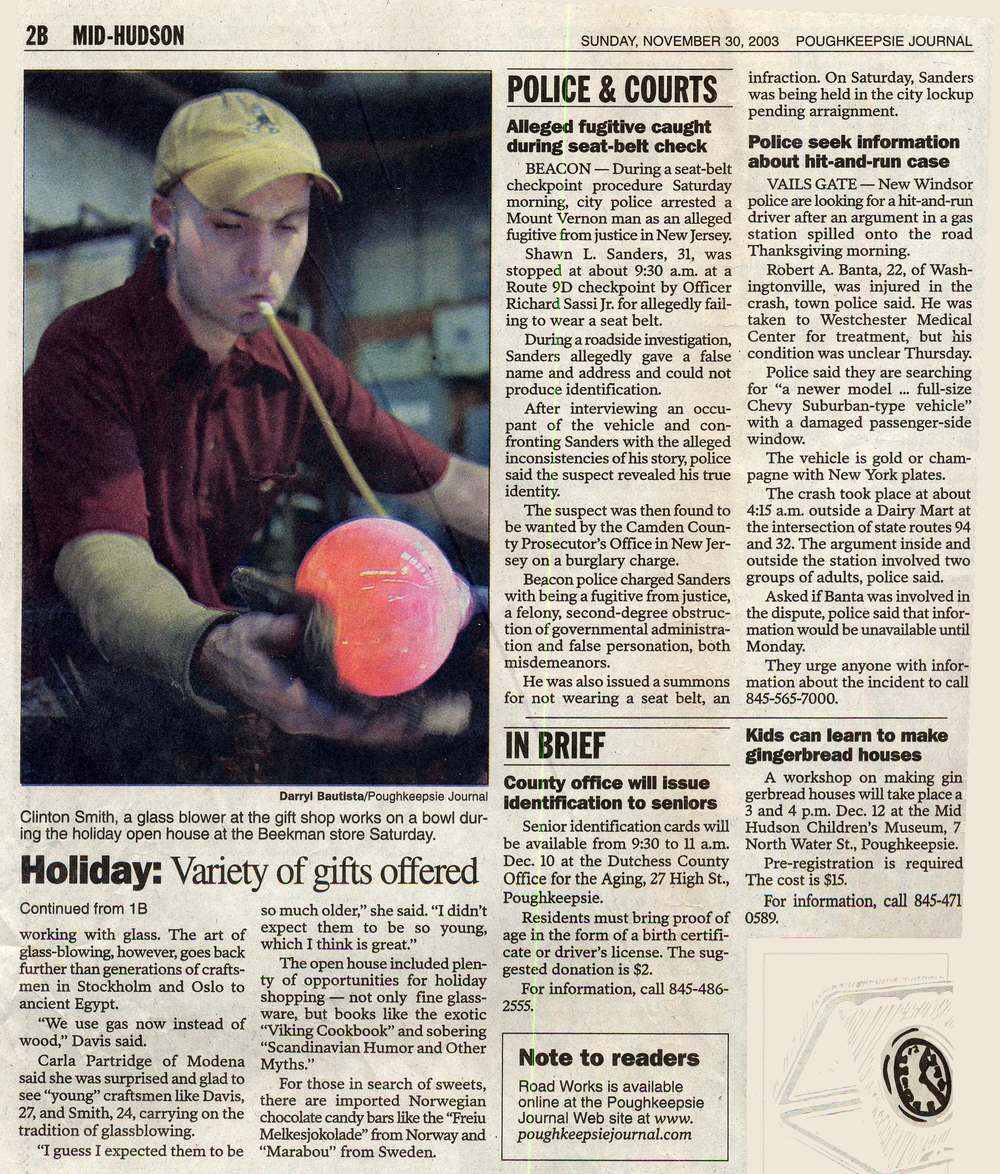 Poughkeepsie Journal, November 2003