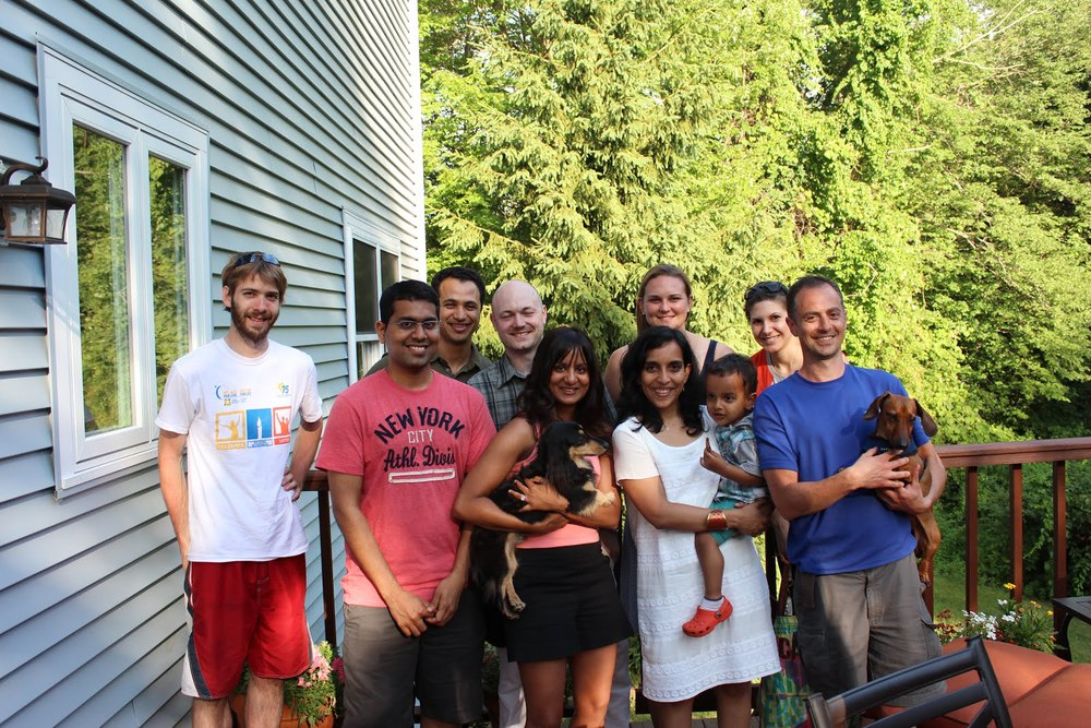 Krishna's farewell party