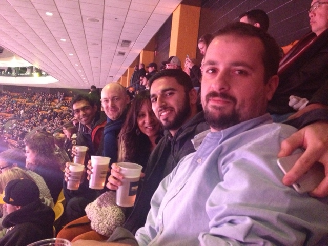 Bruins v. Blues hockey game at the TD Garden
