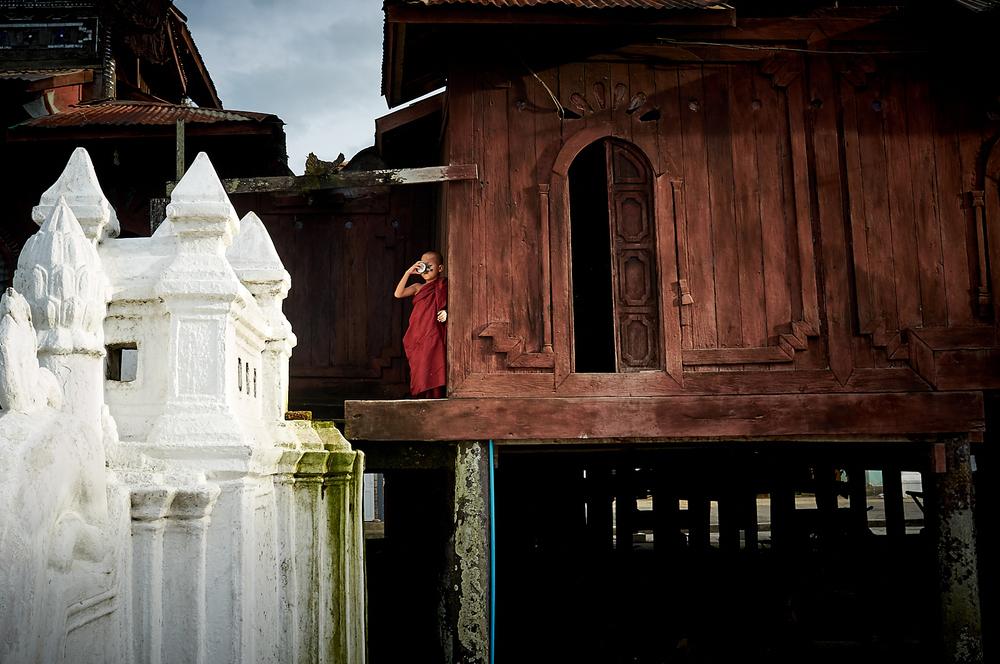 Young Monk of Shwe Yan Pyay Monastery, Inle Lake Myanmar