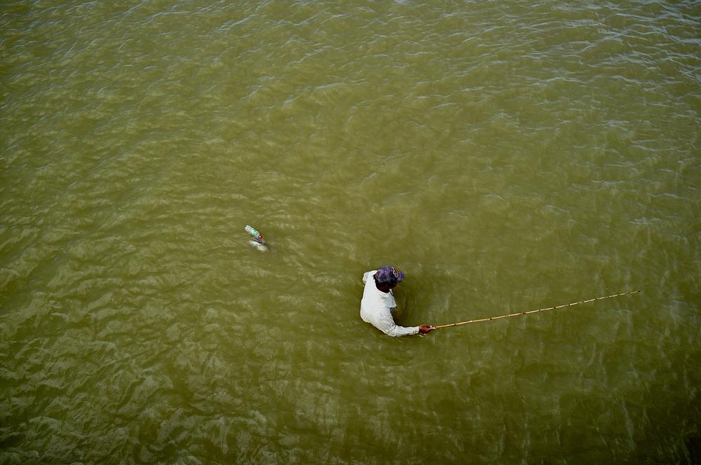 Fisherman in Central Myanmar