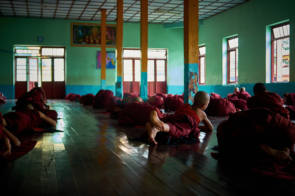 Young Monks studying, Nyaungshwe Myanmar