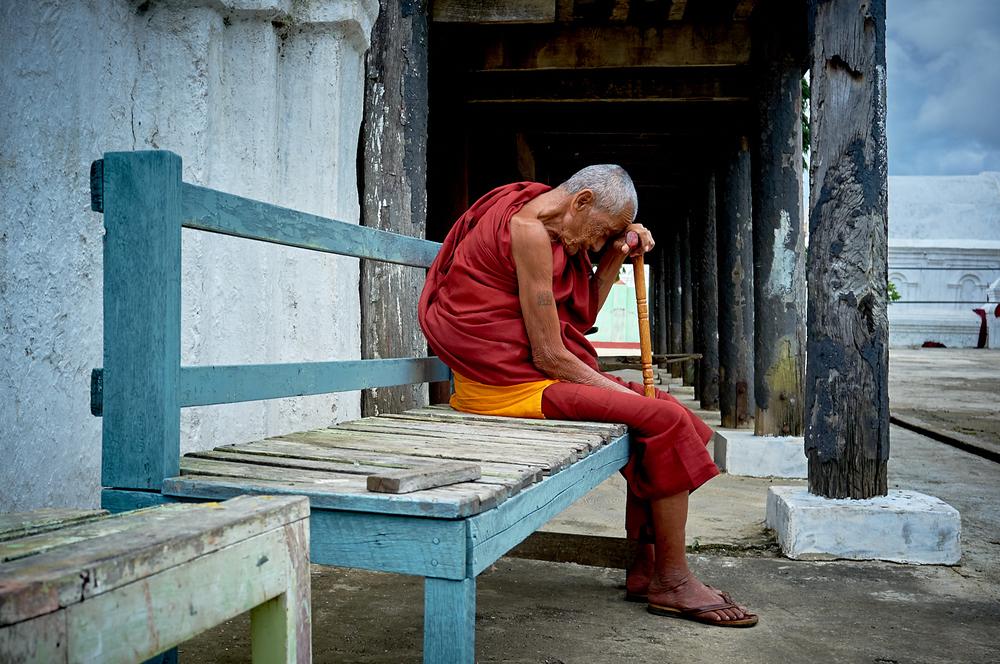 Eldest Monk of Shwe Yan Pyay Monastery, Inle Lake Myanmar
