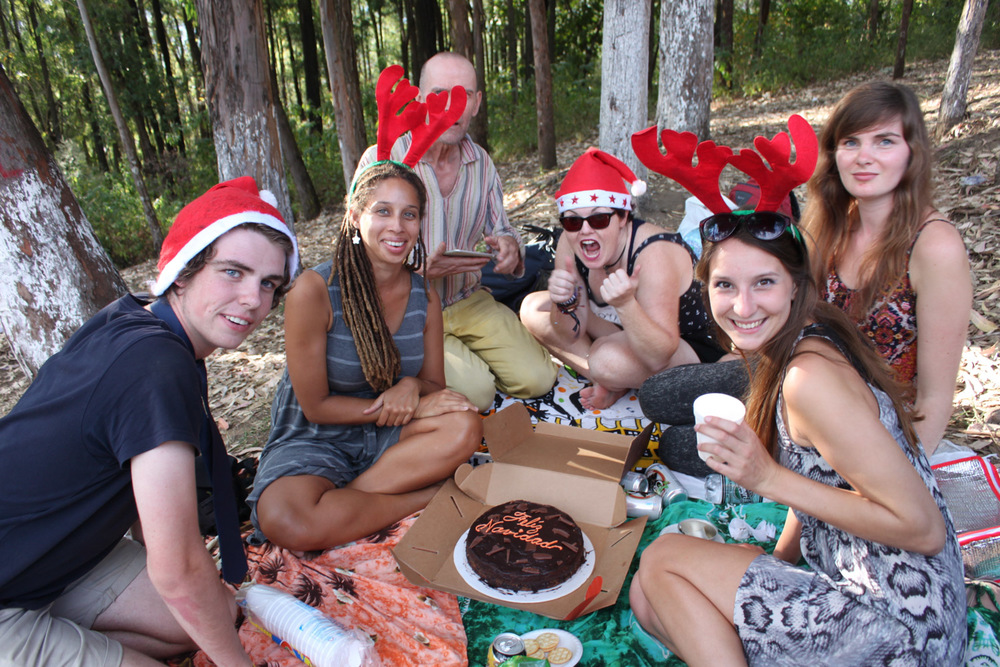 Christmas picnic with some new friends