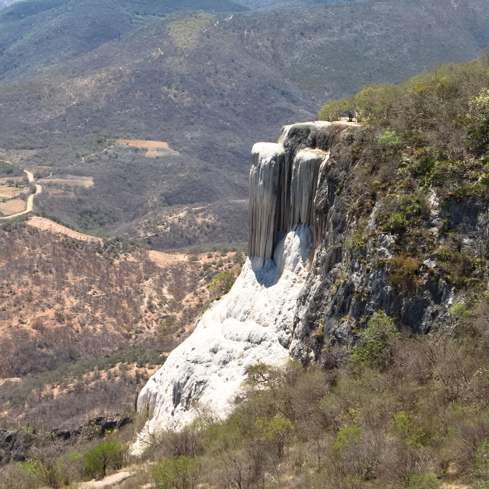 The petrified waterfalls at Hierve de Agua