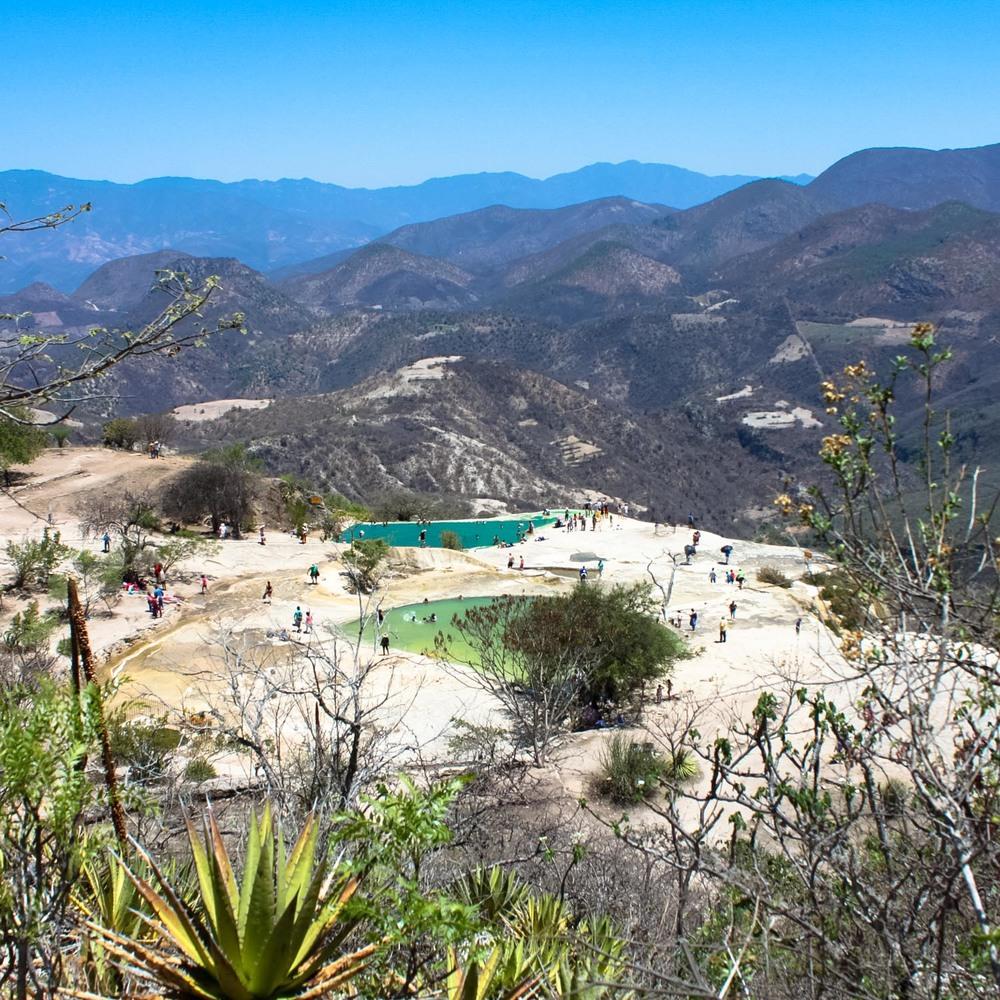 The natural mineral pools at Hierve el Agua