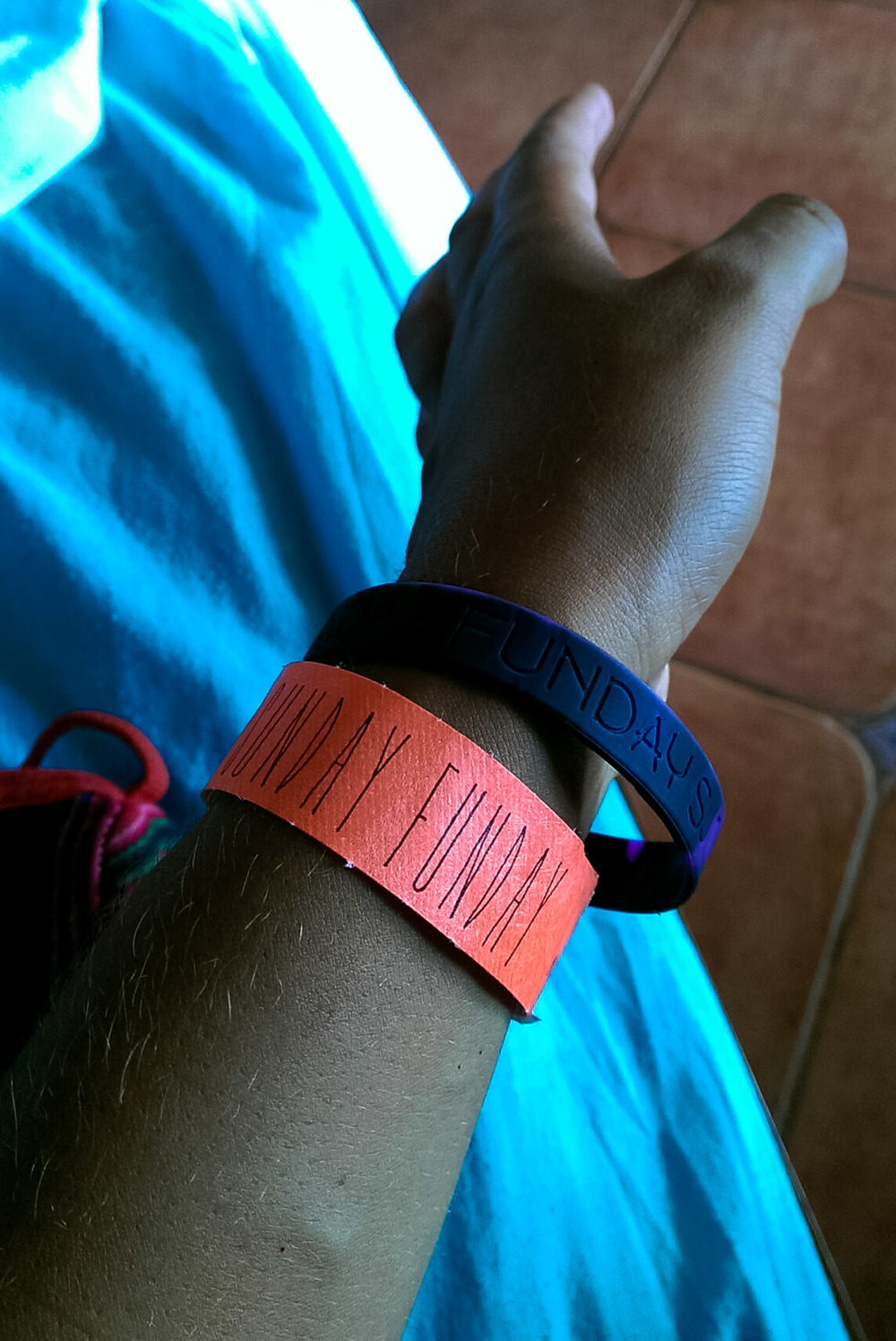 sunday funday wrist bands
