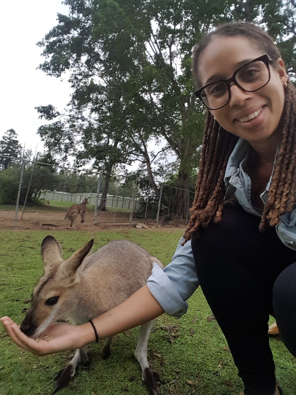 Wallaby selfie :D