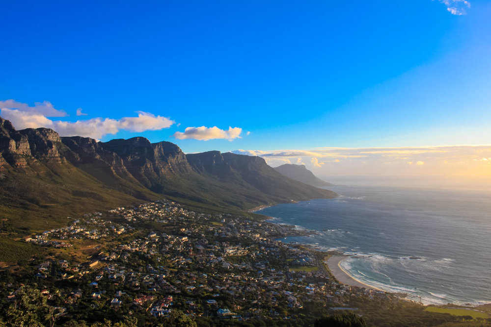 View from Lion's Head at sunset